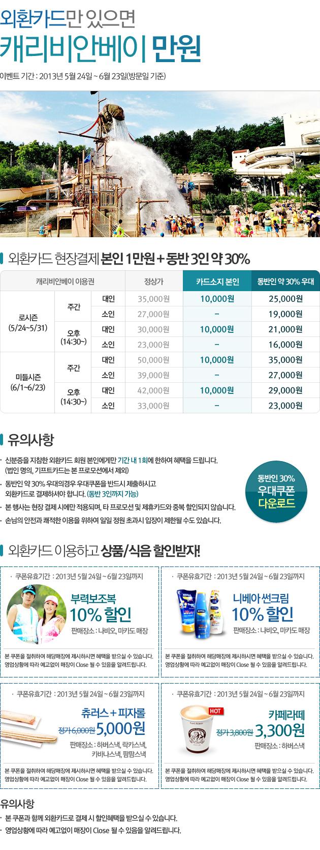 [할인]외환카드 현장결제시 본인 1만원 특별우대